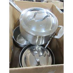 4 used Lagostina Pots