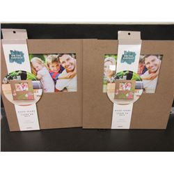 2 Wood Picture Frames / Add your personal touch , color & craft yourself