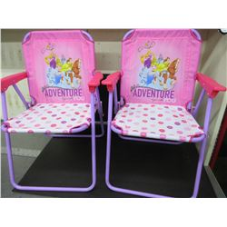 Disney Princess Folding Chairs & Table / no Umbrella / great chairs for camping