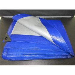 12ft x 16ft Heavy Duty Reversable Tarp / silver- blue / these are not cheap tarps