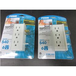 2 Small Appliance Surge Protector / 6 outlets each