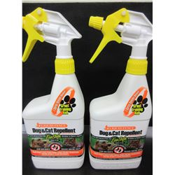 2 Liquid Fence Dog & Cat Repellant / keep cats out of Flower Beds and Dogs