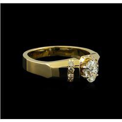 0.57 ctw Diamond Ring - 14KT Yellow Gold