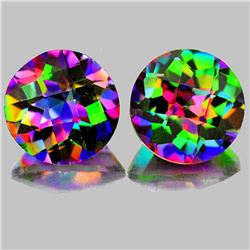 Natural Rainbow Mystic Topaz Pair 10.00 MM - Flawless