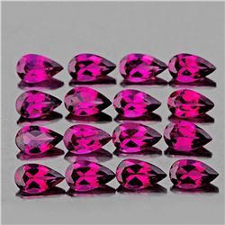 Natural  Rhodolite Garnet 12 Pcs 5x3 MM - FL