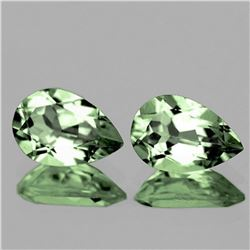 NATURAL GREEN AMETHYST Pair  13x9 MM - Flawless
