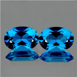 Natural Natural Swiss Blue Topaz Pair 9x6 mm - VVS