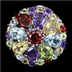 Natural Multi Gemstone Ring