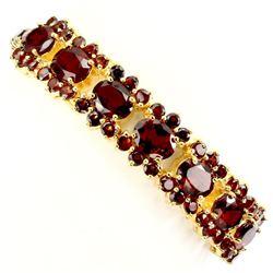 Natural Top Rich Orange Mozambique Garnet Bracelet