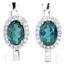 Natural AAA LONDON BLUE TOPAZ OVAL Earrings