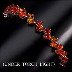 Natural Orange Fire Opal Bracelet 48.22 Cts