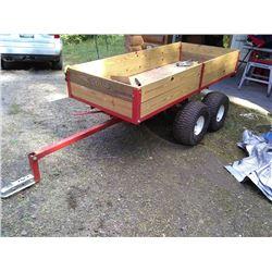 HEAVY DUTY TANDEM AXLE ATV DUMP TRAILER / NEVER USED