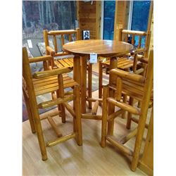 CUSTOM HAND MADE 5 PC HIGH TABLE SET