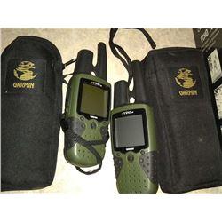 PAIR OF GARMIN HAND HELD WALK TALKIES/GPS