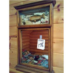 ANGLER WALL MIRROR , NEW CONDITION