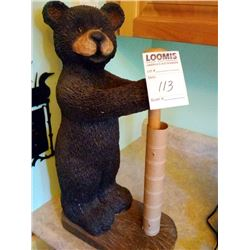 POLYSTONE BLACK BEAR PAPER TOWEL HOLDER