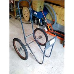 FIREWOOD CART ON SKULK WHEELS