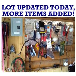 WALL LOT OF NEW & LIKE NEW ITEMS w NEW BATTERY TESTER