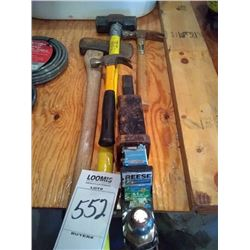 LOT: HAND TOOLS & REESE HITCH COMBO