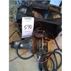 USED ELECTRIC WINCH w ASSC & BAG