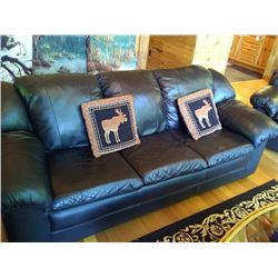 3 PC LEATHER LODGE LIVING ROOM SUIT/ LIKE NEW