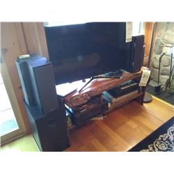 HOME ENTERTAINMENT SYSTEM W CUSTOM LODGE STAND / BENCH