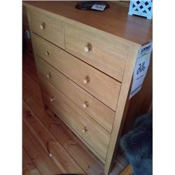 5 DRAWER WOOD CHEST