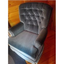 BLUE SWIVEL ROCKER CHAIR