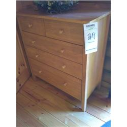 5 DRAWER WOOD DRESSER