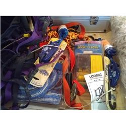 LOT: NEW TIE DOWNS TOW ROPES LOT