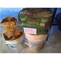 LOT: HYDRO EDGING / BUCKETS FULL OF GOODS