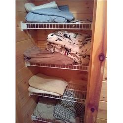 CONTENTS OF 2 LINEN CLOSETS (BULK LOT)