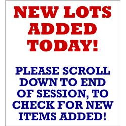 NEW LOTS ADDED TODAY!