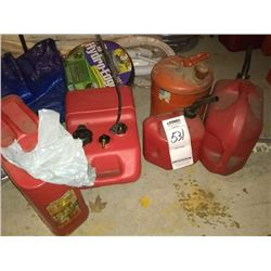 LOT OF FIVE GASOLINE CANS