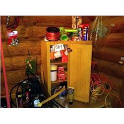 GARAGE WOODEN CABINET LOT