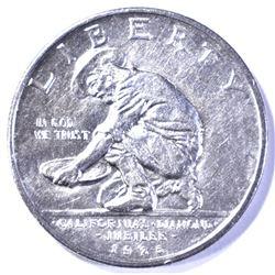 1925-S CALIFORNIA COMMEM HALF DOLLAR, GEM BU NICE!