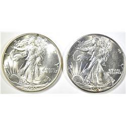 1941-D & 45 WALKING LIBERTY HALF DOLLARS CH BU