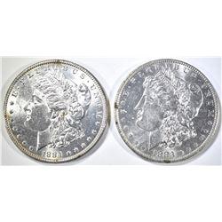 1884, 83-O MORGAN DOLLARS CH BU