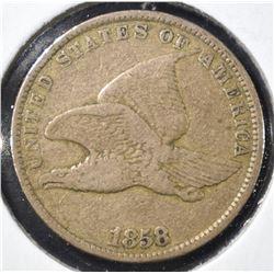 1858 FLYING EAGLE CENT VG