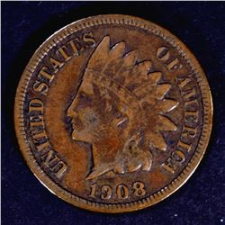 1908-S INDIAN CENT VF NICE