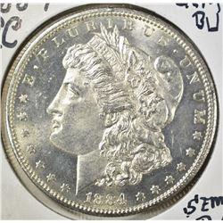 1884-CC MORGAN DOLLAR, GEM BU SEMI-PL FLASHY!!!