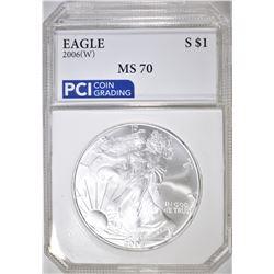2006-W AMERICAN SILVER EAGLE  PCI PERFECT GEM