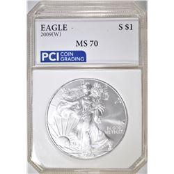 2009-W AMERICAN  SILVER EAGLE  PCI PERFECT GEM