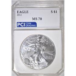 2012 AMERICAN SILVER EAGLE  PCI PERFECT GEM
