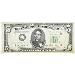 1950 A $5 FRN  NICE PAPER/COLOR QUALITY