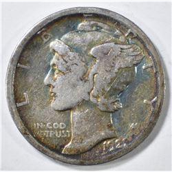 1921-D MERCURY DIME  KEY DATE.  RAINBOW TONE
