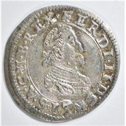 1624 SILVER 3 KREUZER HOLY ROMAN EMPIRE