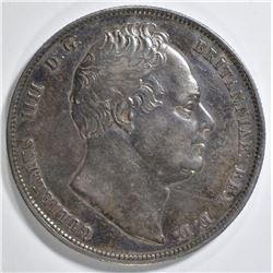 1836 SILVER 1/2 CROWN BG.  CH AU