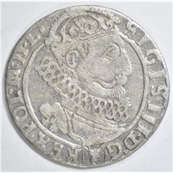 1626 SILVER 1/4 THALER KING SIGISMUND III