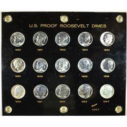 1950-64 PROOF ROOSEVELT DIME SET